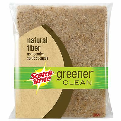 3M 97050-S Scotch-Brite Greener Clean Non Scratch Scrub Sponges