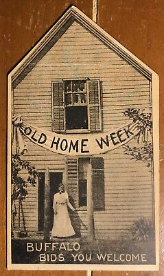 Folder Postcard Cover (only) Buffalo, New York Old Home Week - Die-Cut - 1907
