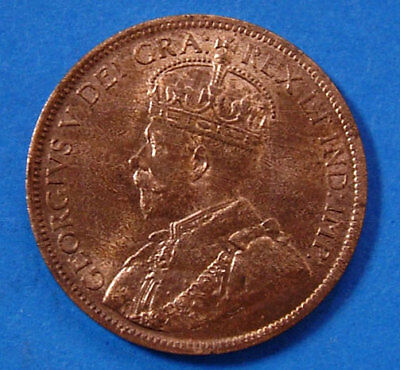1917 Gem BU Canadian Large Cent King George V Canada One Cent Coin