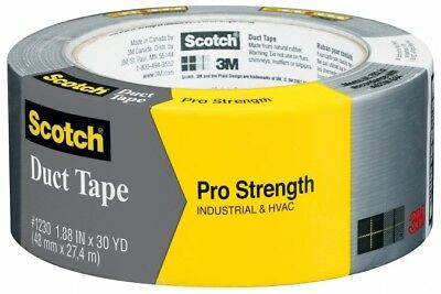 3M 1230-A 1.88& x 30 Yd (48.0 mm x 27.4 m) Scotch Pro Strength Duct Tape