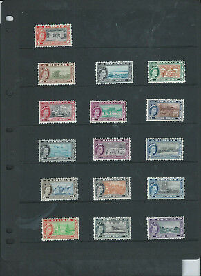 Bahamas 194-63 Qeii Set Of 16 Lmm