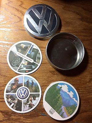 New Vw Volkswagen Set Of 4 Coasters The Concept Collection 2004
