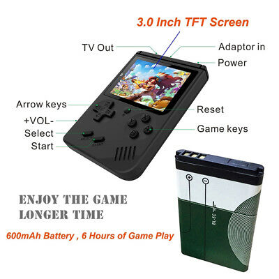 "Pocket Mini Retro Consoles 3.0"" Handheld Game Console FC TV  168 Games Built-in"