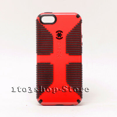 sale retailer c0297 02a70 SPECK CANDYSHELL GRIP iPhone 5 iPhone 5s iPhone SE Snap Case - Red / Black  Used