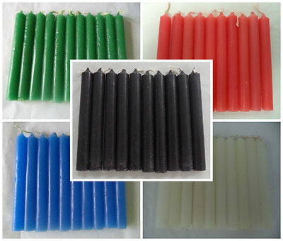 """Wholesale Lot 50 Mini 4"""" Chime Spell Candles - Black White Red Blue Green"""