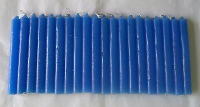 """Chime Spell Candles: Royal Blue, Mini 4"""" Box of 20 (NEW) Pagan, Wicca, Altar"""