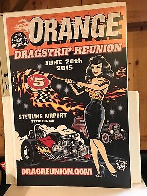 "2015 Orange Dragstrip Reunion Poster Very Large Size 24"" X 36"""