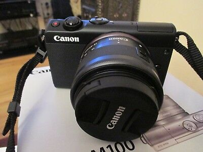 Canon EOS M100 24.2MP Digitalkamera - Schwarz (Kit mit 15-45mm IS STM EF-M...