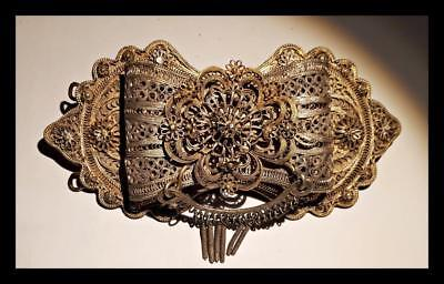 Greece Greek Antique  Ottoman Jiannina Ioannina Art  Silver Filigree Belt Buckle