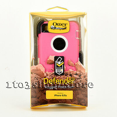 OtterBox Defender iPhone 6 & iPhone 6s Hard Case w/Holster Belt Clip Pink White