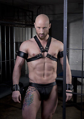 Brust Harness Rindsleder BLACK PARUS [MUC] leather gay Muscle NEU