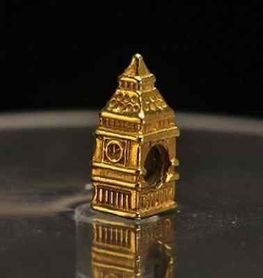 LOOK BIG BEN Buckingham Palace London charm gold plated bead