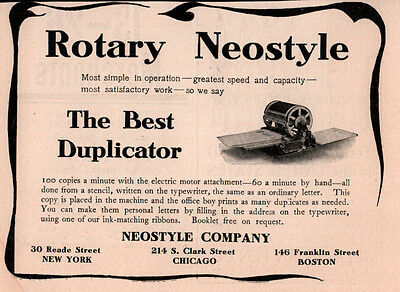 Early Ad Rotary Neostyle Duplicator Electric Motor Attachment