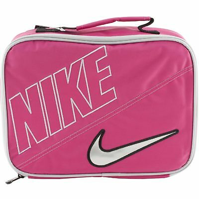 dcfd28aa54 Nike Air Pink Silver Soft School Insulated Lunch Tote Bag Box NWT Kids  Adults