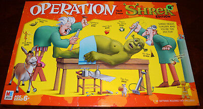 Shrek Edition Operation Game Replacement Parts & Pieces 2004 Funatomy MB Hasbro
