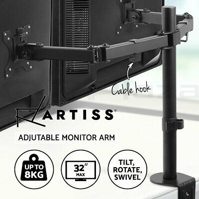 Artiss Portable Adjustable Mobile Wooden Laptop Desk Sofa Bed Side Table Stand