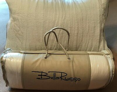 Bella Russo Bamboo Bed Pillow New 27 X 18 Memory Foam Washable Cover