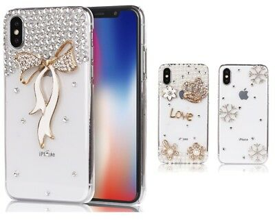 Bling Glitter Case Slim Clear Crystal Diamond Covers iPhone XS XR Max 8 7 Plus