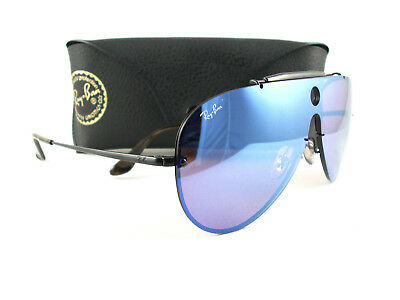 11d80d2f3c8 NEW RAY-BAN SUNGLASSES RB3581N Blaze Shooter 153 7V Violet Blue Mirror  Authentic -  125.00