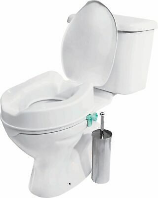 Ease of Living Raised Toilet Seat with Lid - White