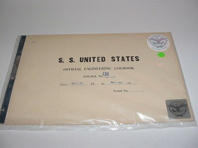 SS UNITED STATES LINES 1957  Logbook  / Voyage #116 /  Eastbound & Westbound
