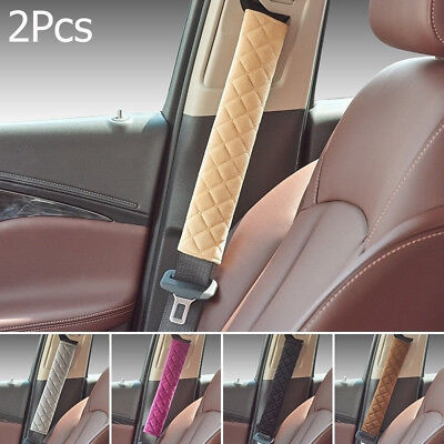 2 x Car Seat Safety Belt Comfortable Warmth Cover Cushion Harness