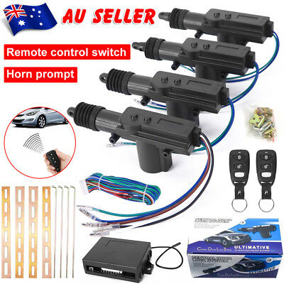 Remote Control 4 Door Entry Keyless Central Lock Locking Kit Car Security System