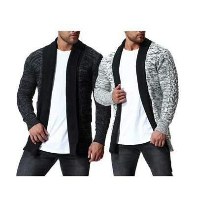 2018 Autumn & Winter Thickened Long Knitted Sweater Cardigan Coat For Men