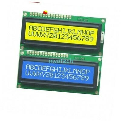 10pcs Blue + Yellow Backlight 1602 16x2 HD44780 Character LCD Display Module