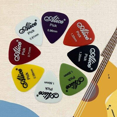 50 x Guitar Bass Picks / Plectrums Fender Celluloid More Colours 0.58-1.5 mm NEW