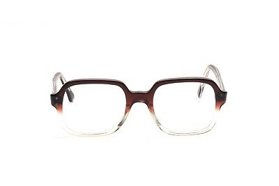 Vintage 1960s two tone eyeglasses in brown and crystal size 50-20mm EG 37
