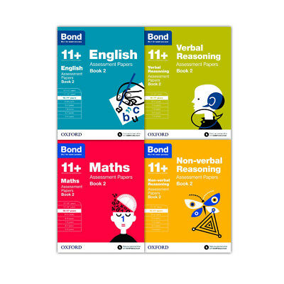 Bond 11+ 4 Books Set Ages 10-11 years Assessment & tests maths english Book 2