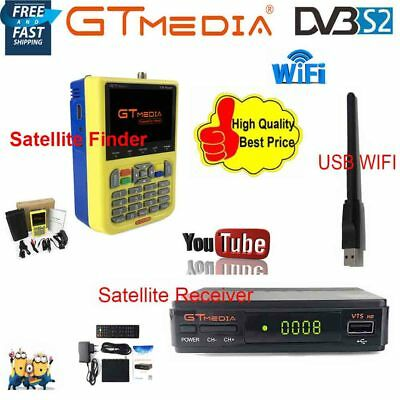 DVB-S/S2 GTmedia HD Digital Satellite Finder LNB+FTA 1080P TV Receiver+USB WIFI