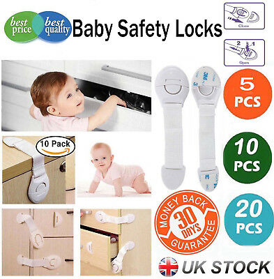 10PCS Magnetic Cabinet Drawer Cupboard Locks for Baby Safety Child Proof Kids UK