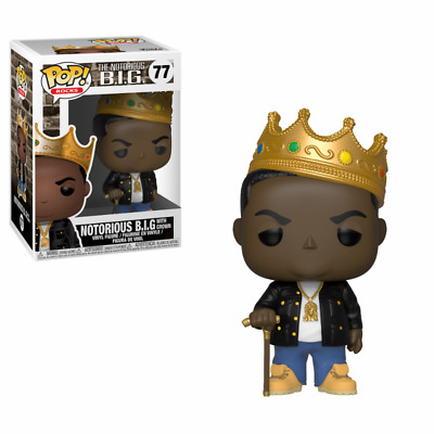 Funko Pop Rocks Music 77 Notorious B.I.G. with Crown SUBITO DISPONIBILE