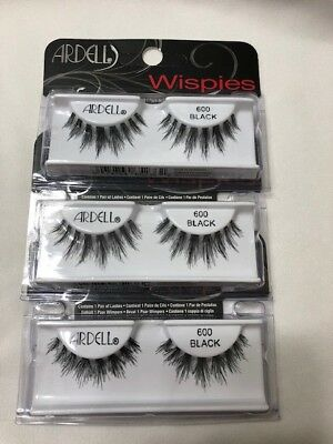 c0eb7ba8398 LOT OF 3) NEW! Ardell Cluster Wispies False Eyelashes, # 600 Black ...