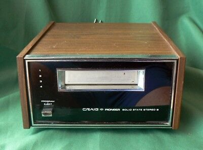 Vintage Craig Pioneer 3207 Solid State Stereo 8-Track Player WORKING GREAT!