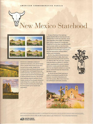 #882 (45c) Forever New Mexico Statehood #4591 USPS Commemorative Stamp Panel