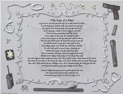 POLICE Poem EYES OF A MAN Personalized Name Art Print