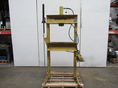 Enerpac 30 Ton Hydraulic H Frame Press Manual Pump Double Acting