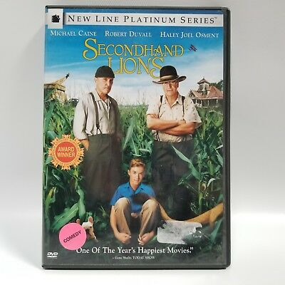 Secondhand Lions DVD 2004 New Line Platinum Series Michael Caine Robert Duvall