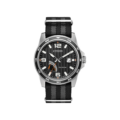 Citizen Men's Eco Drive J850 PRT Water Proof Stainless Steel Watch, Black & Gray