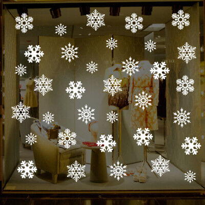 Large Snowflakes Christmas Wall Decals Vinyl Window Sticker Home Shop Decor CB