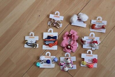 Gymboree hair Strawberry Sweetheart Eyelet Headband Hat Bow Curlies hair U Pic