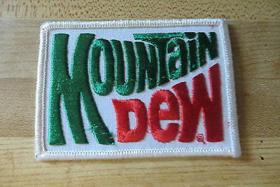 Original soda pop advertising Mountain Dew large company collectible patch
