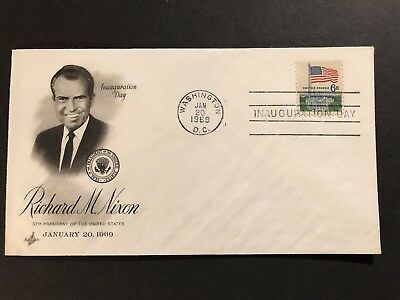 1969 Richard M Nixon 37th PRESIDENT Cachet 1st Cover FDC Inauguration Wash DC