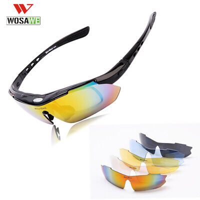 RockBros Polarized Cycling Sunglasses Goggles Eyewear Sports Glasses 5 Lenses