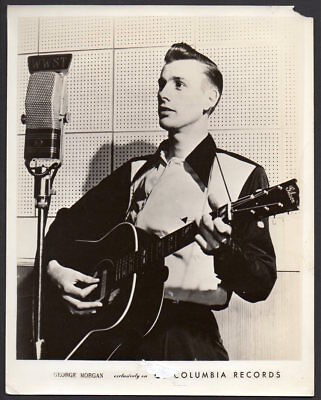 GEORGE MORGAN country western singer guitarist COLUMBIA RECORDS PHOTO 8x10