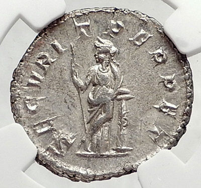 GORDIAN III Authentic Ancient 244AD Silver Roman Coin SECURITAS NGC i73033