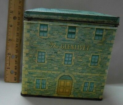 Vintage The Glenlivet Tin Box 12 year old Scotch Whiskey Made in England RARE